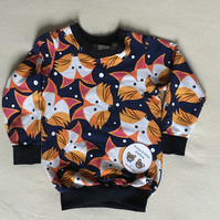 Age 3 year - long sleeved top- fox