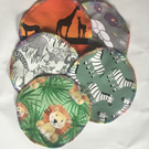 Reusable cloth wipes - safari
