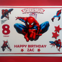Personalised Spiderman Birthday Card, Son, Grandson,Brother,Nephew,Cousin,Friend