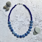 Blue Lampwork Glass and Sterling Silver Necklace -Morvoren Collection