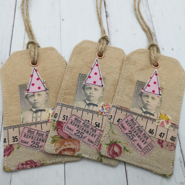 Whimsical Tags set of 3