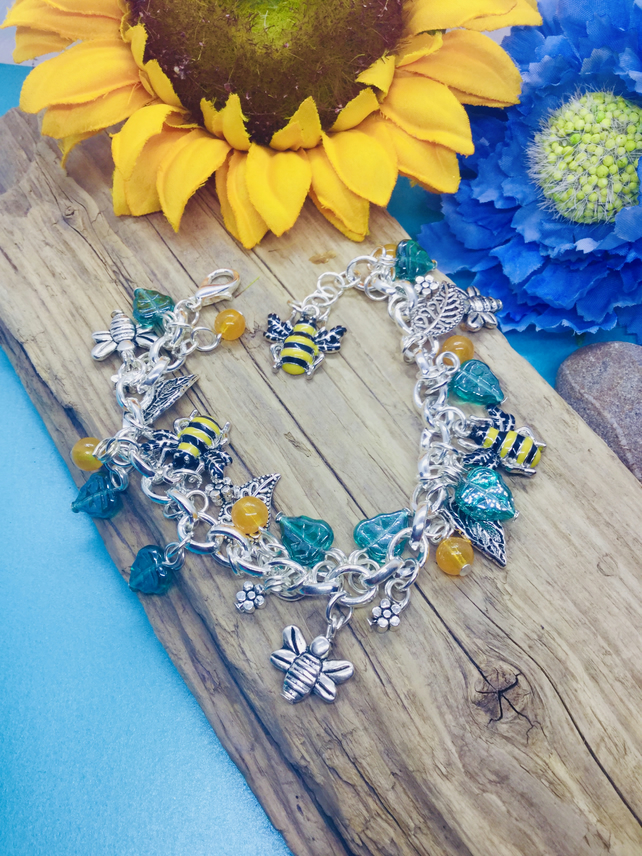Bee and Flower themes bracelet