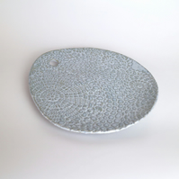 Cool Blue Ceramic Platter