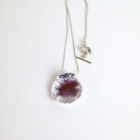 Plum Drop Ceramic Necklace