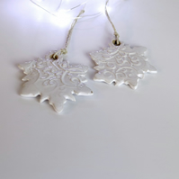 Ceramic Hanging Snowflake Decoration