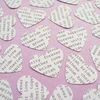 100 Wedding Words Confetti Hearts - Engagement, Wedding, Anniversary Table Decor