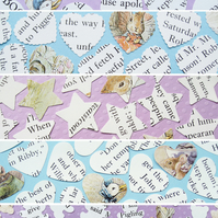500 Beatrix Potter Confetti - 5 shape choices - Baby Shower Christening Party