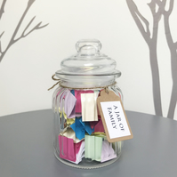 A Jar of Family Quotes - Remind family how special they are - Handmade Quote Jar
