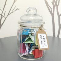 A Jar of Courage - Quotes inspiring strength courage - Wellness Self Care Gift