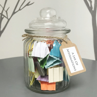 A Jar of Affirmations - Wellness Self Care Mental Health Quote Gift