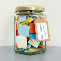 A Jar of Affirmations - Wellness Self Care - Mental Health Quote Gift