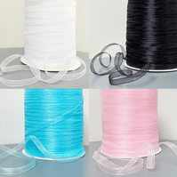 6mm Wide - 20 Metres Woven Edge Organza Ribbon