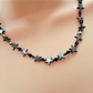 Hematite Black Star Necklace. Black Star Beaded Necklace.
