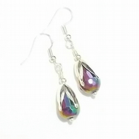 Rainbow earrings. Rainbow Crystal Beaded Earrings