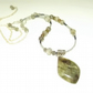 Labradorite Gemstone Necklace with Beaded Chain