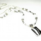 Black and White Agate Beaded Gemstone Necklace