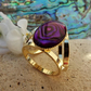 Pink Abalone Scarf Jewellery. Gold Plate. Scarf Ring. Shell Scarf Accessory