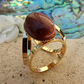 Goldstone Scarf Jewellery. Gold Plate. Scarf Ring. Goldstone Scarf Accessory