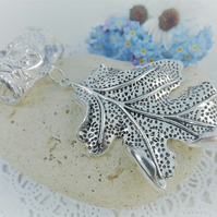 Scarf Jewellery. Autumn Leaf. Scarf Slider ring. Silver Tone