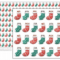 Cats in Stockings Wrapping Paper