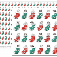 Dogs in Stockings Wrapping Paper