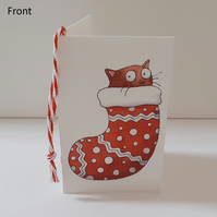 Cats in Stockings Gift Tag