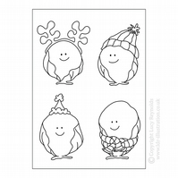 Colour Me In Card - Smiley Sprout