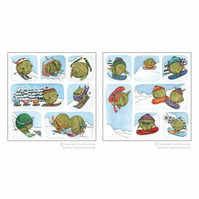 Mixed Pack of 12 Snowsports Sprouts Cards