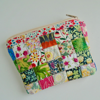 Quilted  Cotton Patchwork Purse