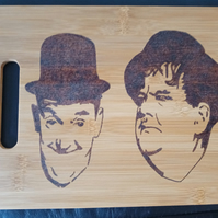 Laurel and Hardy chopping board
