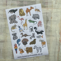 Animal stickers - A Sloth, A Parade and A Stench