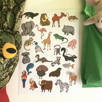 Animal A-Z poster, A Sloth, A Parade and A Stench