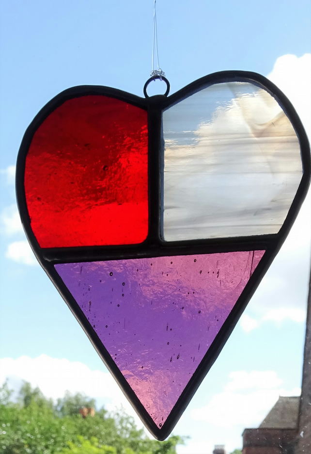 Stained Glass Heart Folksy