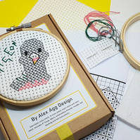Wendy Wood Pigeon Cross Stitch Kit craft kits, gift for bird lover, sewing gifts