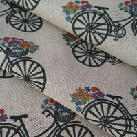 Flower basket bicycle fabric
