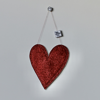 'Happy Valentine's Day' Large Glittery Heart - Hanging Decoration