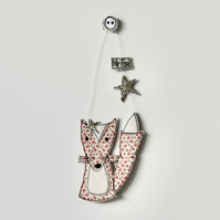 'Floral Mr Fox' - Hanging Decoration
