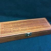 Cribbage Box Set in reclaimed solid mahogany
