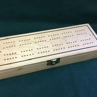 Cribbage Box Set in solid sycamore.