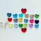 Crochet hearts, crochet applique, embellishments, cardmaking