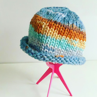 Knitted hat, chunky knit beanie