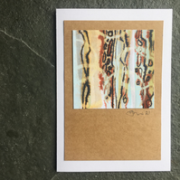 Original art work collage mixed media contemporary art picture 10cm x 15 cm