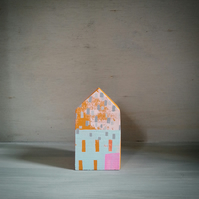 Miniature Wooden House, Little Printed House, House Sculpture, New Home