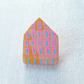 Wooden House Pin Badge, House Brooch, House Pin