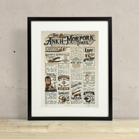 Discworld Inspired Hand Pulled Limited Edition Screen Print