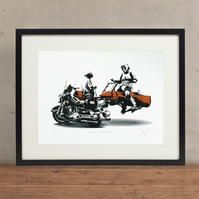 Star Wars Licence & Registration Hand Pulled Limited Edition Screen Print