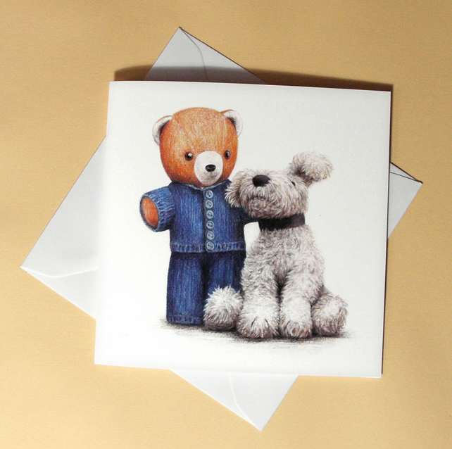 Greetings card - blank - Teddy Bears No.2