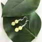 Lemon Jasper earrings with sterling silver  ear wires