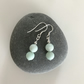 Frosted Amazonite aqua gemstone earrings with sterling silver ear wires
