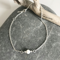 Mother of pearl anklet bracelet